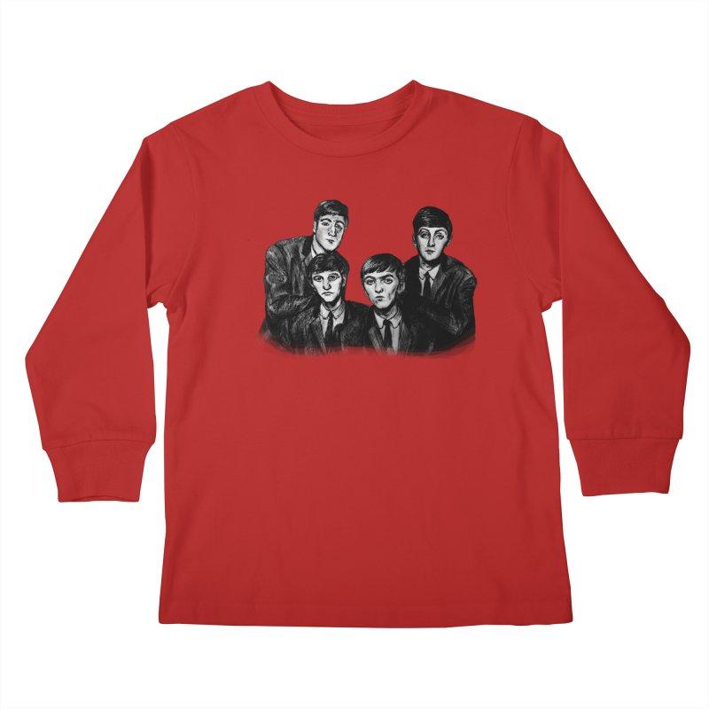 A Littler Help From My Friends  Kids Longsleeve T-Shirt by dasiavou's Artist Shop
