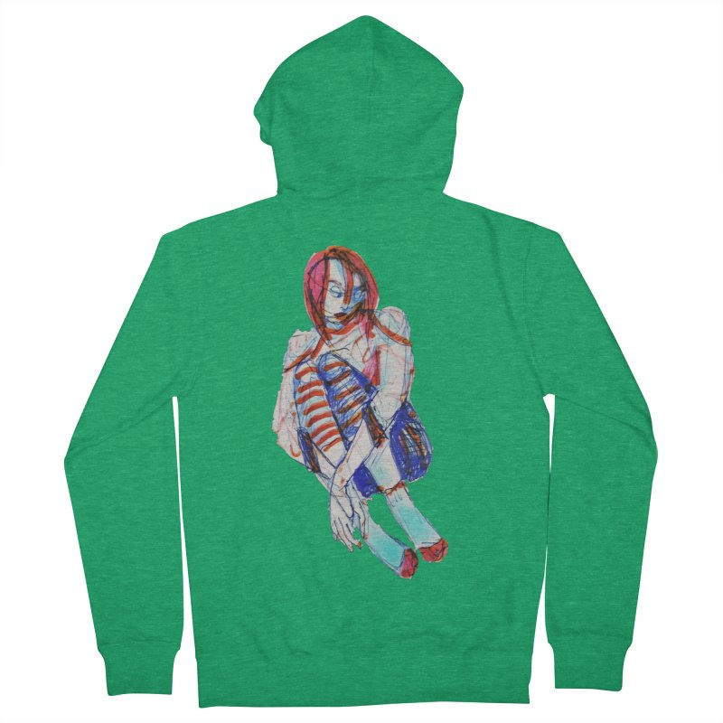 Bare Bones Women's Zip-Up Hoody by dasiavou's Artist Shop