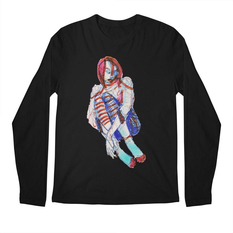 Bare Bones Men's Longsleeve T-Shirt by dasiavou's Artist Shop