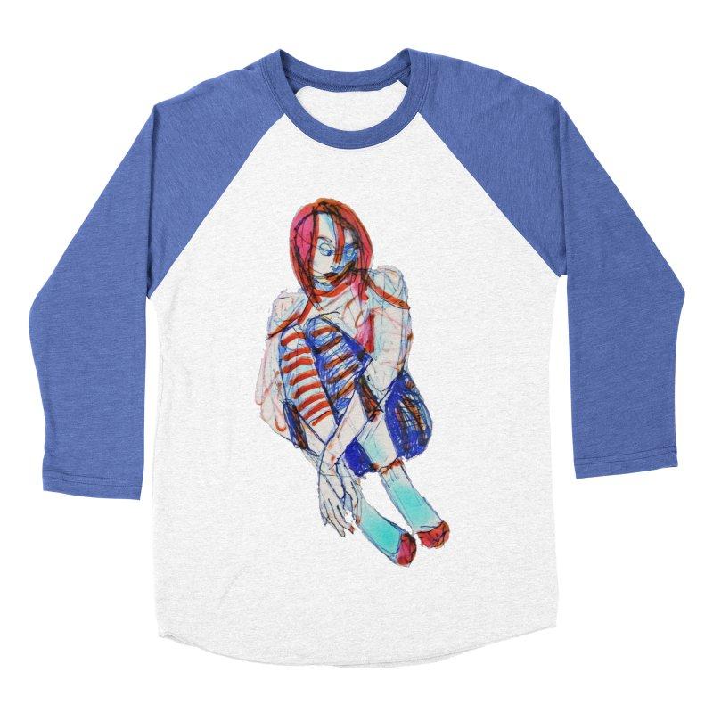 Bare Bones Men's Baseball Triblend T-Shirt by dasiavou's Artist Shop