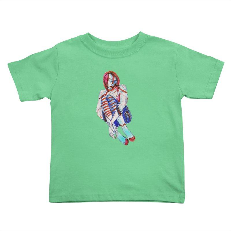 Bare Bones Kids Toddler T-Shirt by dasiavou's Artist Shop
