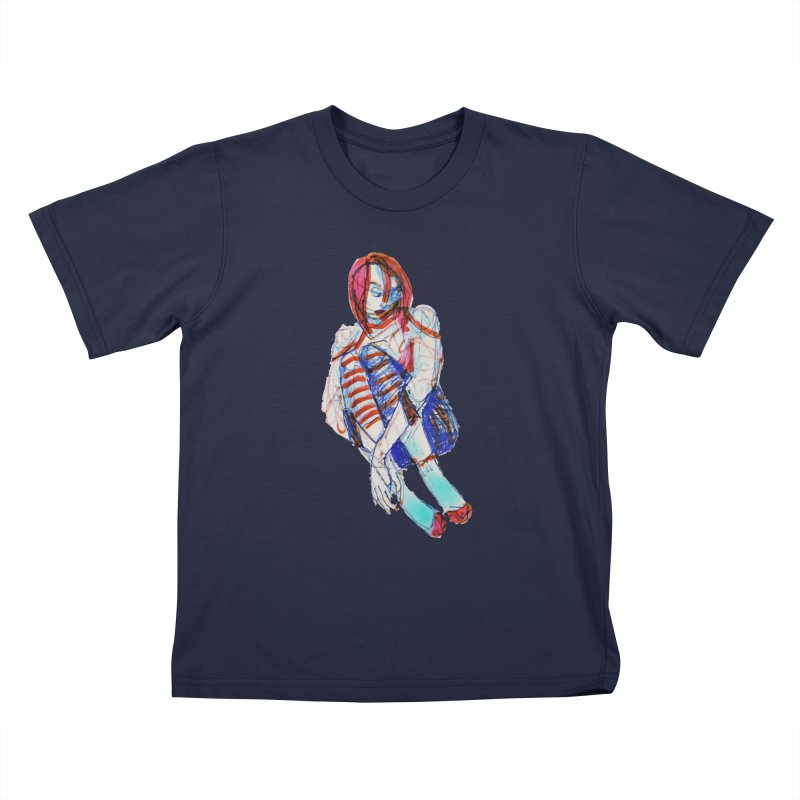 Bare Bones Kids T-Shirt by dasiavou's Artist Shop
