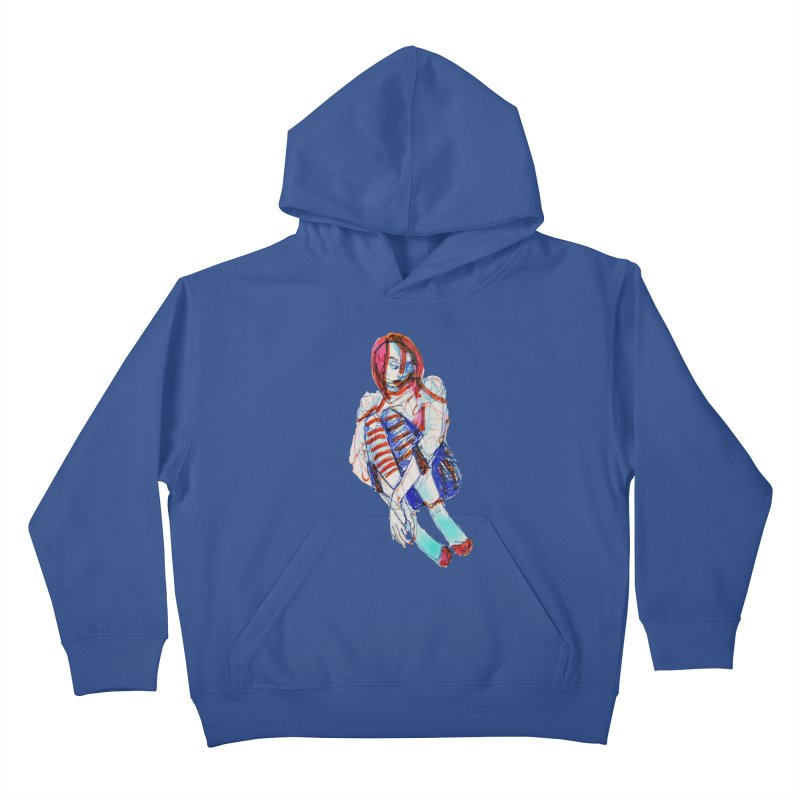 Bare Bones Kids Pullover Hoody by dasiavou's Artist Shop