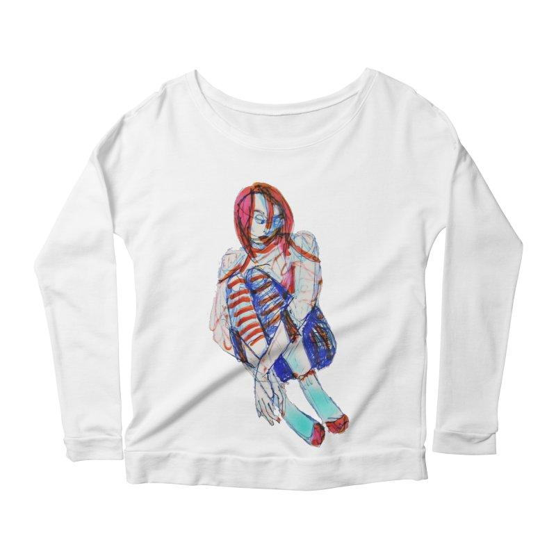 Bare Bones Women's Longsleeve Scoopneck  by dasiavou's Artist Shop