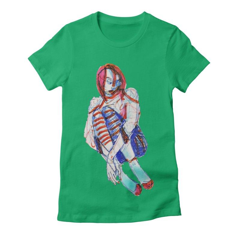 Bare Bones Women's T-Shirt by dasiavou's Artist Shop