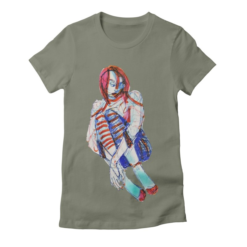 Bare Bones Women's T-Shirt by dasiavou's Artist Shop