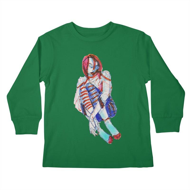 Bare Bones Kids Longsleeve T-Shirt by dasiavou's Artist Shop