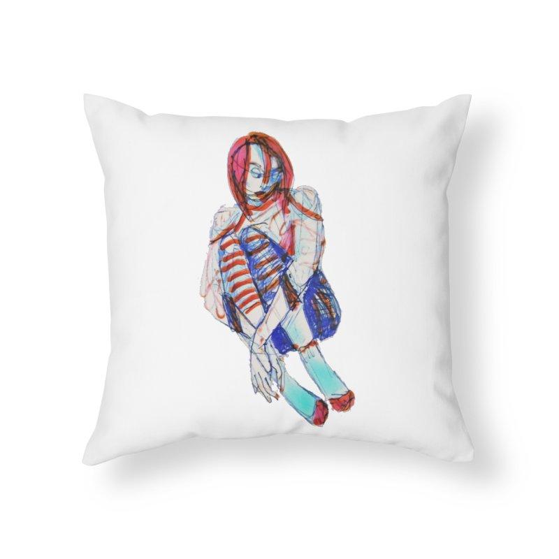 Bare Bones Home Throw Pillow by dasiavou's Artist Shop