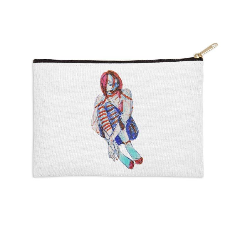 Bare Bones Accessories Zip Pouch by dasiavou's Artist Shop