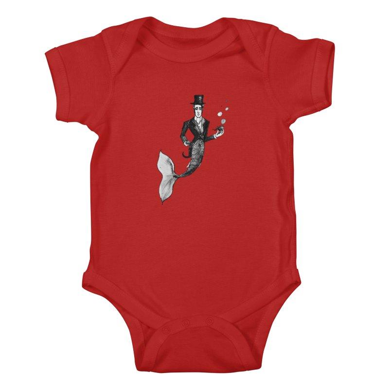 MerGentleman Kids Baby Bodysuit by dasiavou's Artist Shop
