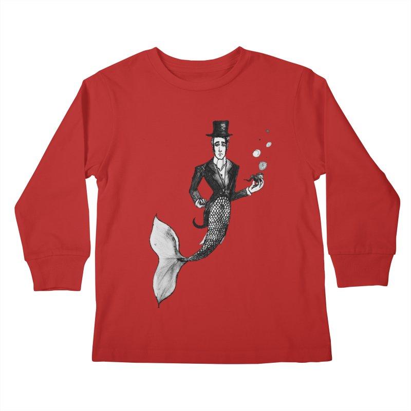 MerGentleman Kids Longsleeve T-Shirt by dasiavou's Artist Shop