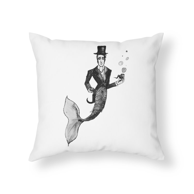 MerGentleman Home Throw Pillow by dasiavou's Artist Shop