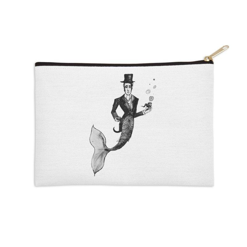 MerGentleman Accessories Zip Pouch by dasiavou's Artist Shop
