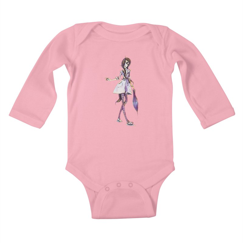 Rainy Day Kids Baby Longsleeve Bodysuit by dasiavou's Artist Shop