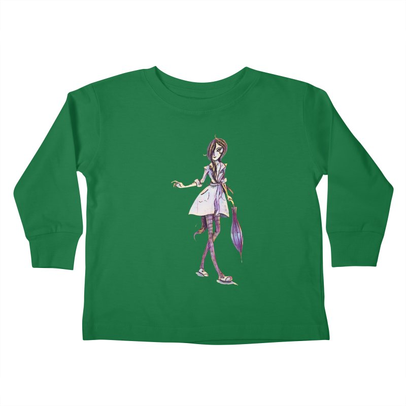 Rainy Day Kids Toddler Longsleeve T-Shirt by dasiavou's Artist Shop