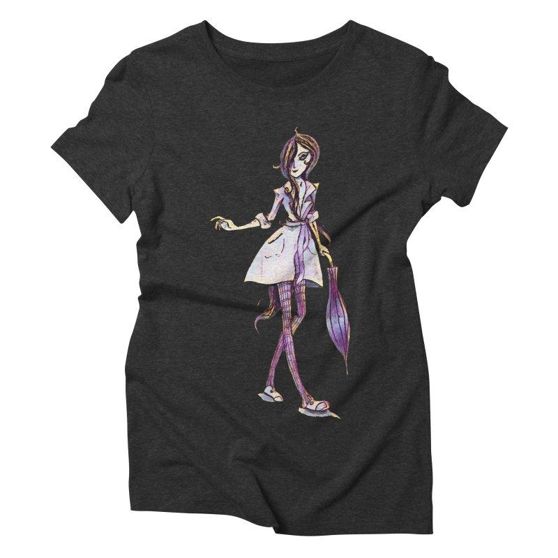Rainy Day Women's Triblend T-shirt by dasiavou's Artist Shop