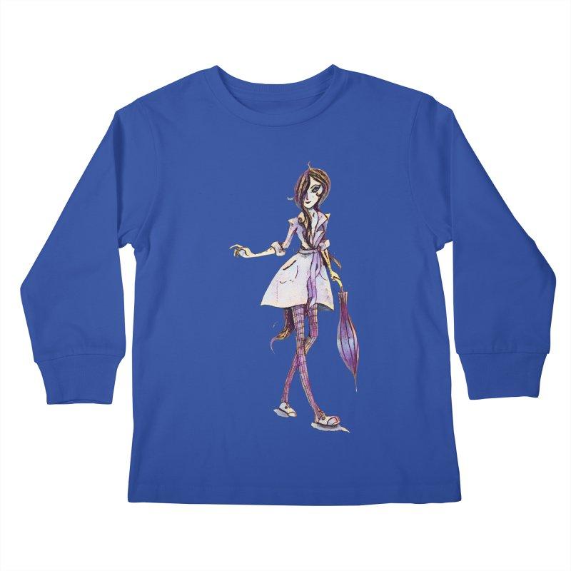 Rainy Day Kids Longsleeve T-Shirt by dasiavou's Artist Shop