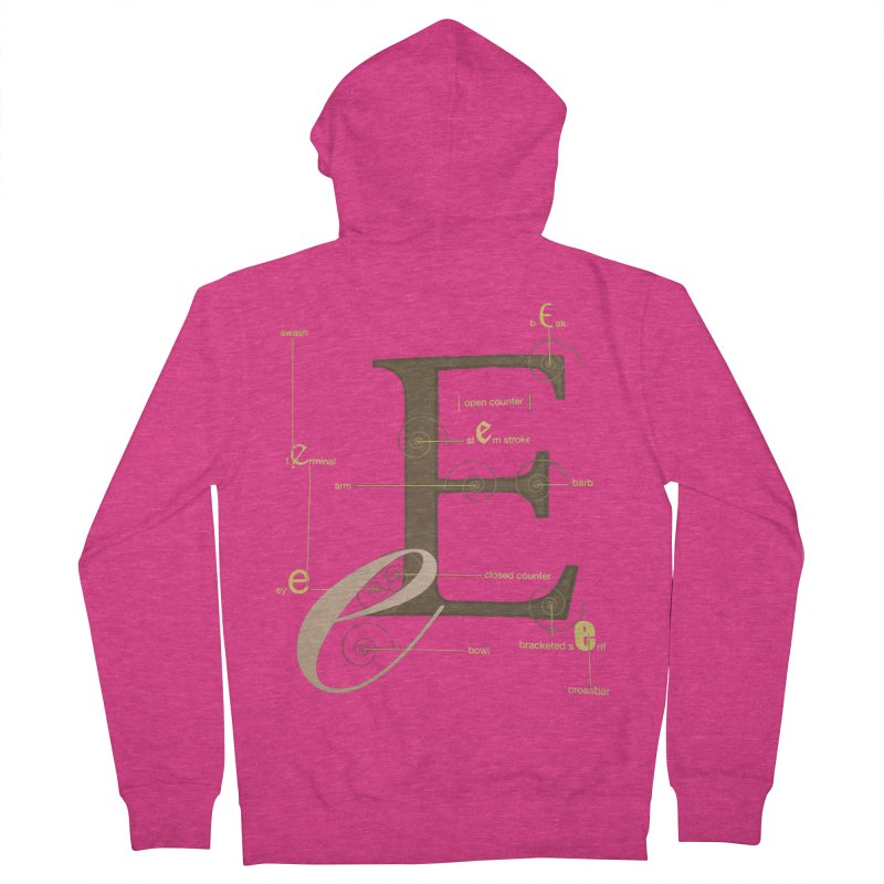 Letter of the Day Women's Zip-Up Hoody by dasiavou's Artist Shop