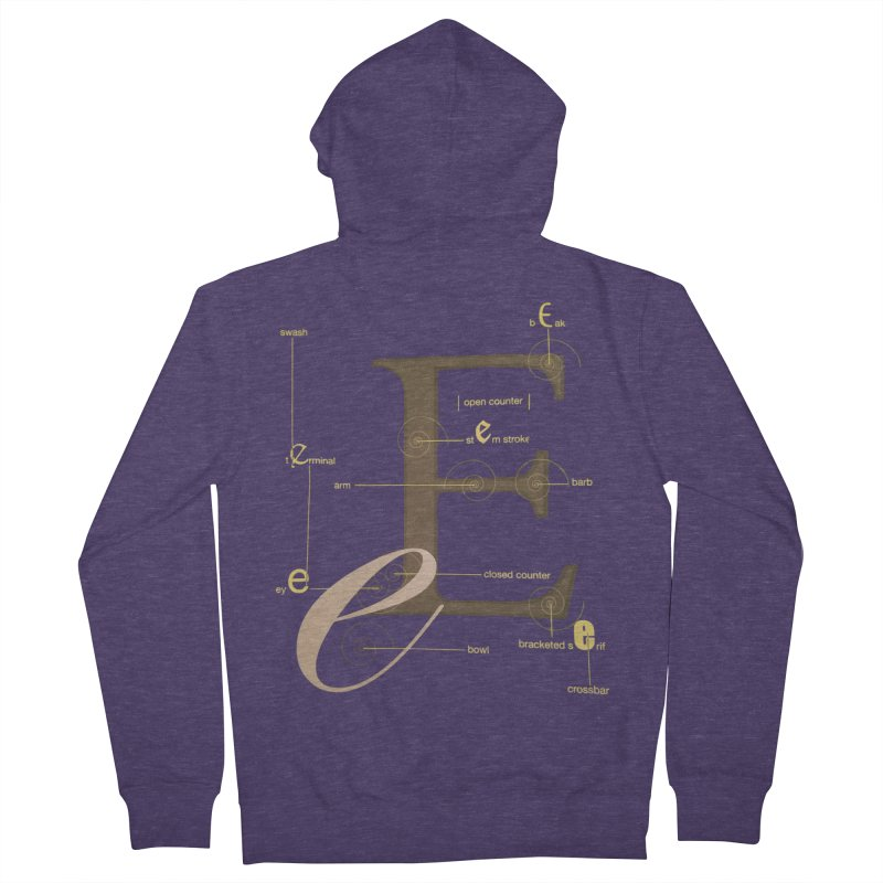 Letter of the Day Men's Zip-Up Hoody by dasiavou's Artist Shop