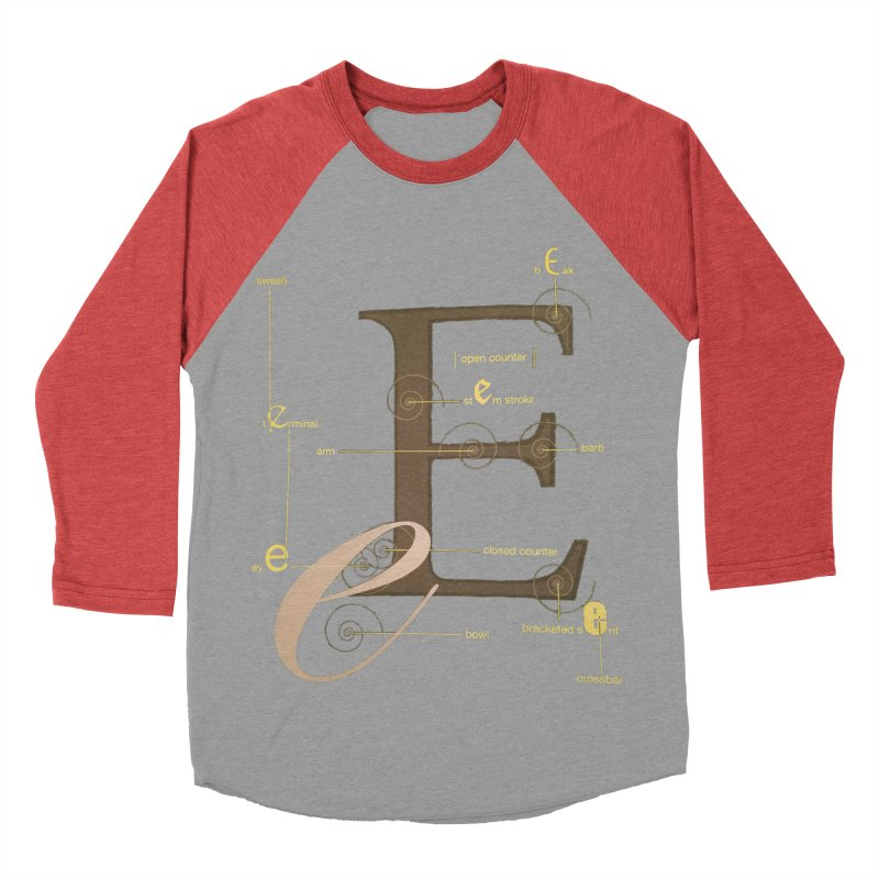 Letter of the Day Men's Baseball Triblend T-Shirt by dasiavou's Artist Shop