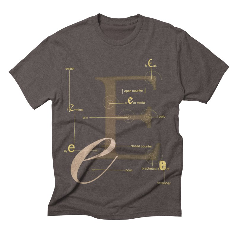 Letter of the Day Men's Triblend T-shirt by dasiavou's Artist Shop