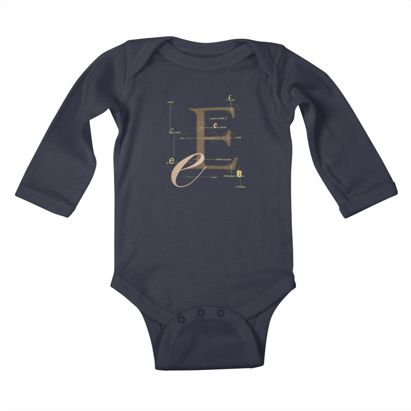 Letter of the Day Kids Baby Longsleeve Bodysuit by dasiavou's Artist Shop