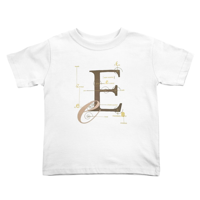 Letter of the Day Kids Toddler T-Shirt by dasiavou's Artist Shop
