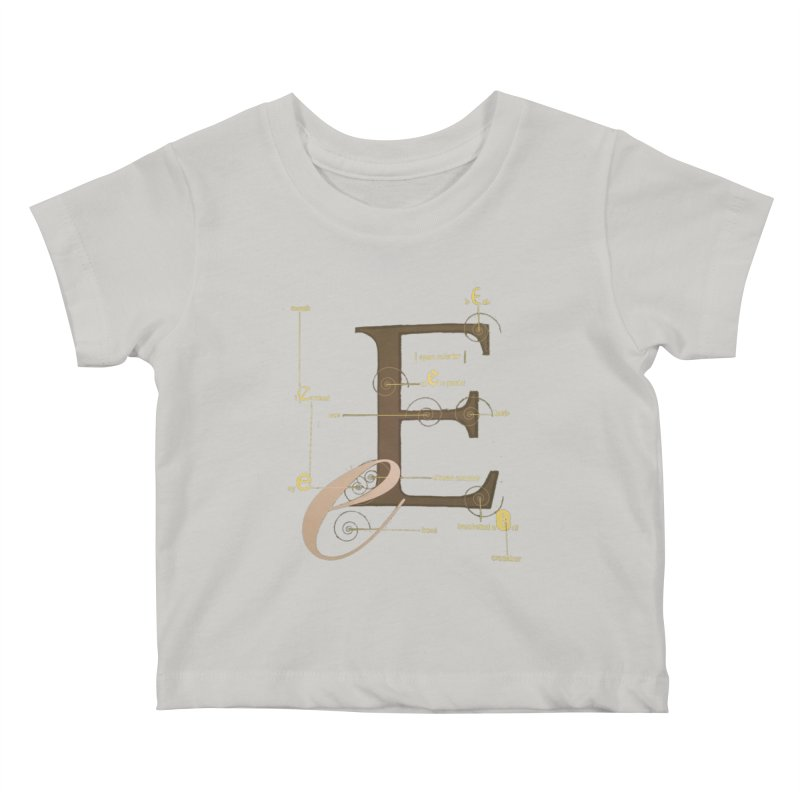 Letter of the Day Kids Baby T-Shirt by dasiavou's Artist Shop