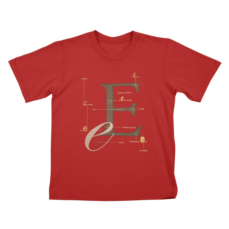 Letter of the Day Kids T-shirt by dasiavou's Artist Shop