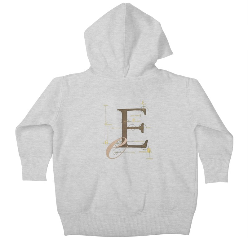 Letter of the Day Kids Baby Zip-Up Hoody by dasiavou's Artist Shop