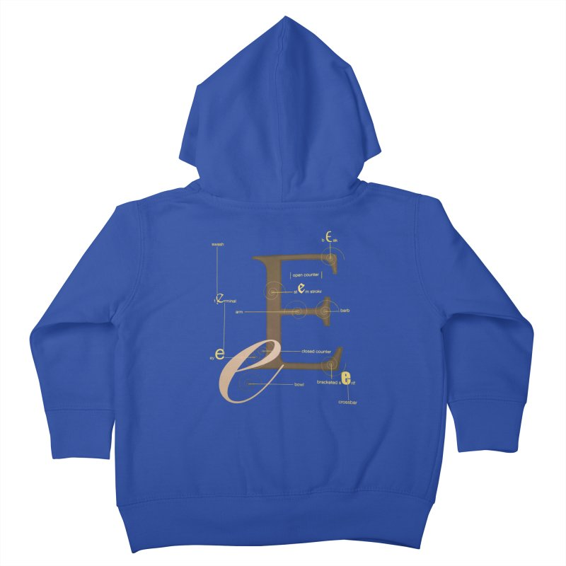 Letter of the Day Kids Toddler Zip-Up Hoody by dasiavou's Artist Shop