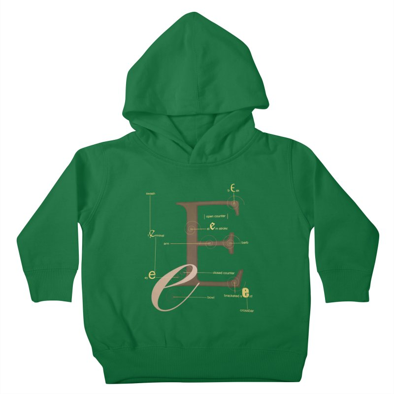 Letter of the Day Kids Toddler Pullover Hoody by dasiavou's Artist Shop