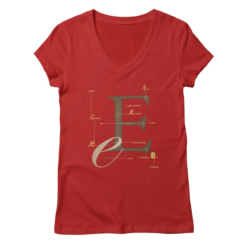 Letter of the Day Women's V-Neck by dasiavou's Artist Shop