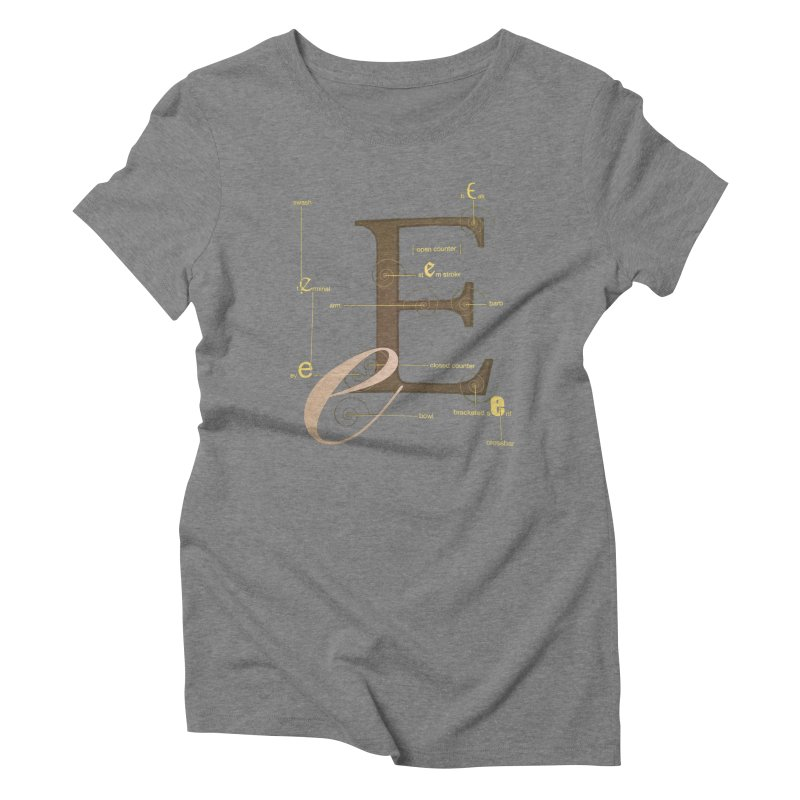Letter of the Day Women's Triblend T-shirt by dasiavou's Artist Shop