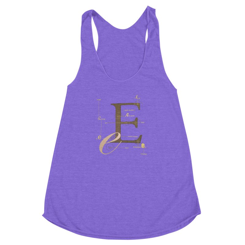 Letter of the Day Women's Racerback Triblend Tank by dasiavou's Artist Shop