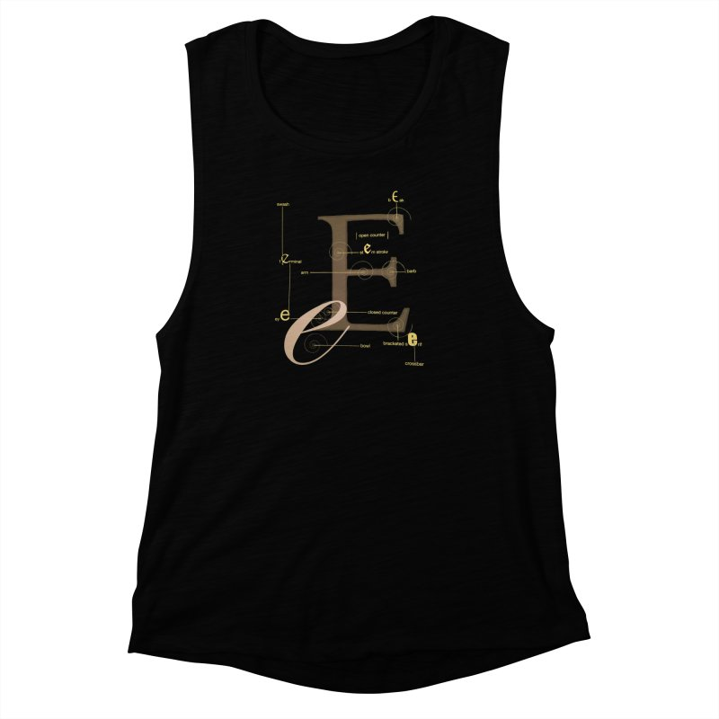 Letter of the Day Women's Muscle Tank by dasiavou's Artist Shop
