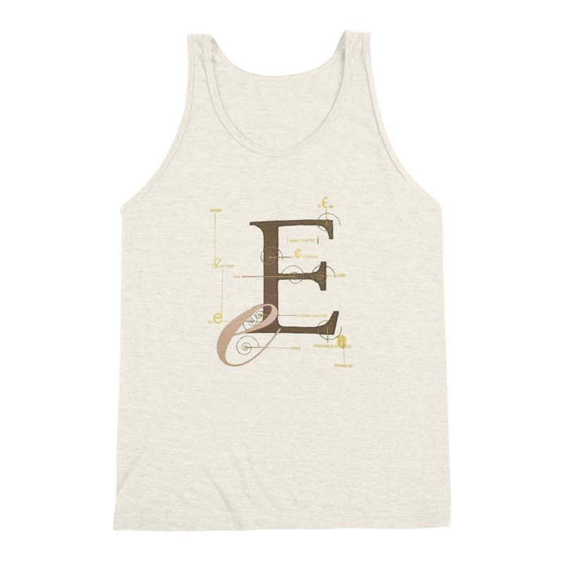Letter of the Day Men's Triblend Tank by dasiavou's Artist Shop