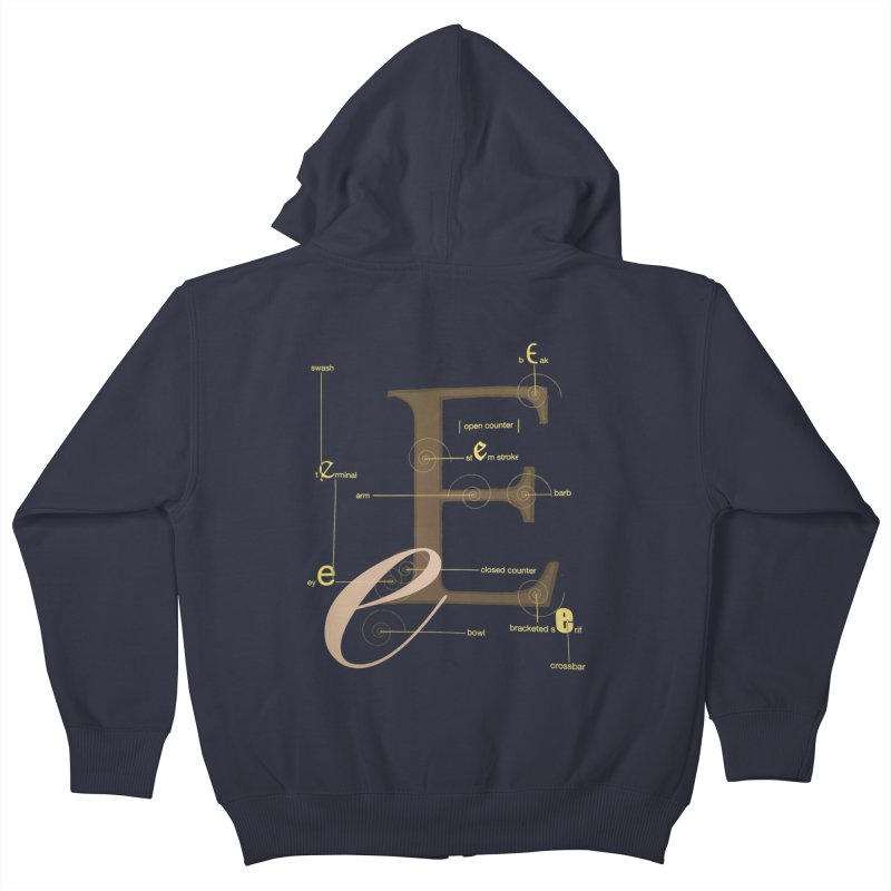 Letter of the Day Kids Zip-Up Hoody by dasiavou's Artist Shop