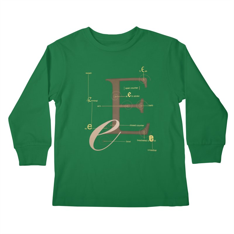 Letter of the Day Kids Longsleeve T-Shirt by dasiavou's Artist Shop