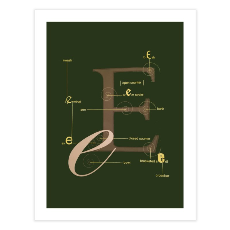 Letter of the Day Home Fine Art Print by dasiavou's Artist Shop