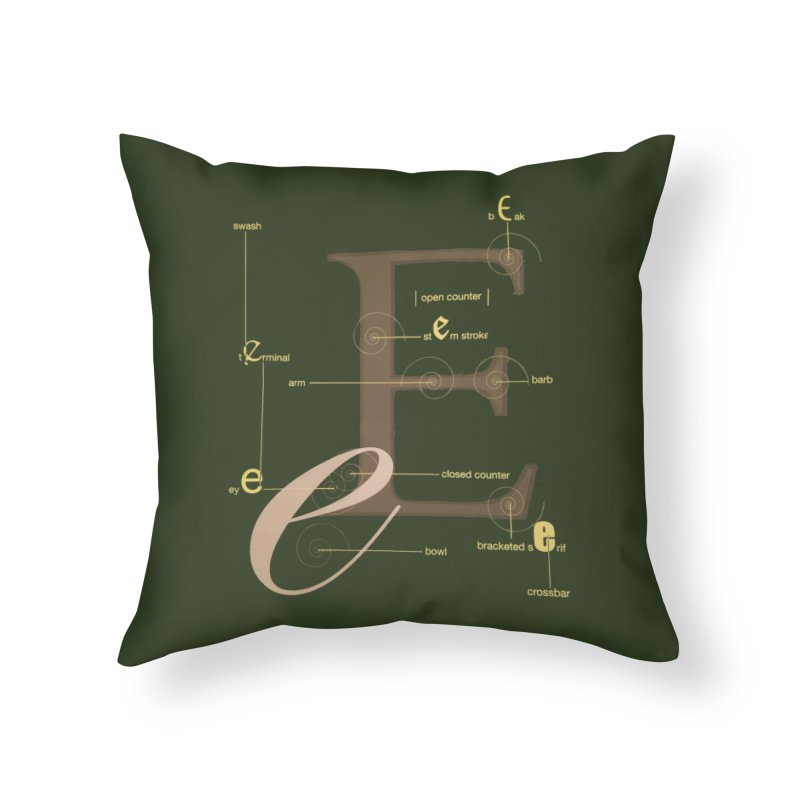 Letter of the Day Home Throw Pillow by dasiavou's Artist Shop