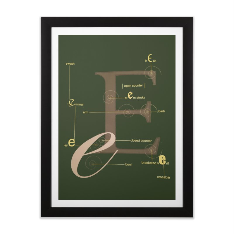 Letter of the Day Home Framed Fine Art Print by dasiavou's Artist Shop