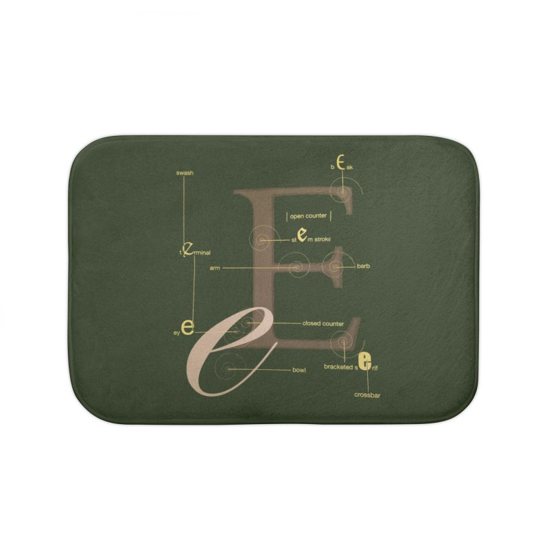 Letter of the Day Home Bath Mat by dasiavou's Artist Shop