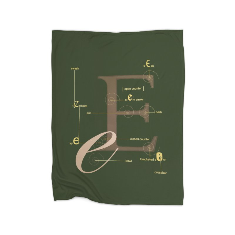 Letter of the Day Home Blanket by dasiavou's Artist Shop