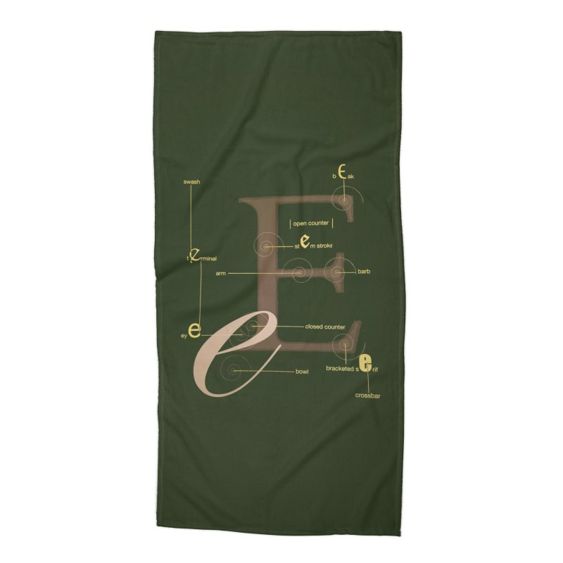 Letter of the Day Accessories Beach Towel by dasiavou's Artist Shop