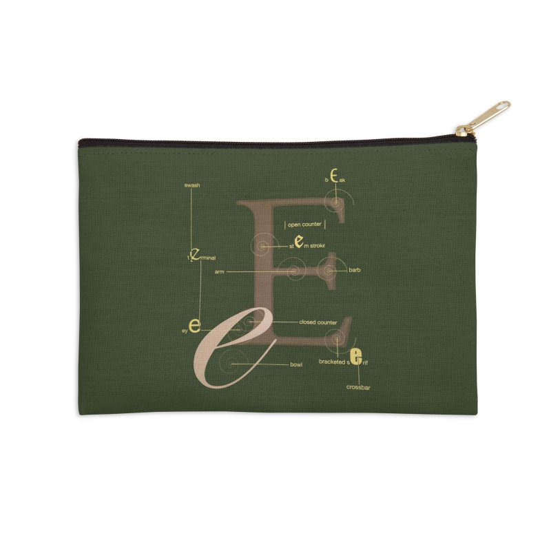 Letter of the Day Accessories Zip Pouch by dasiavou's Artist Shop