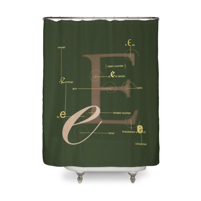 Letter of the Day Home Shower Curtain by dasiavou's Artist Shop