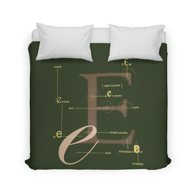 Letter of the Day Home Duvet by dasiavou's Artist Shop