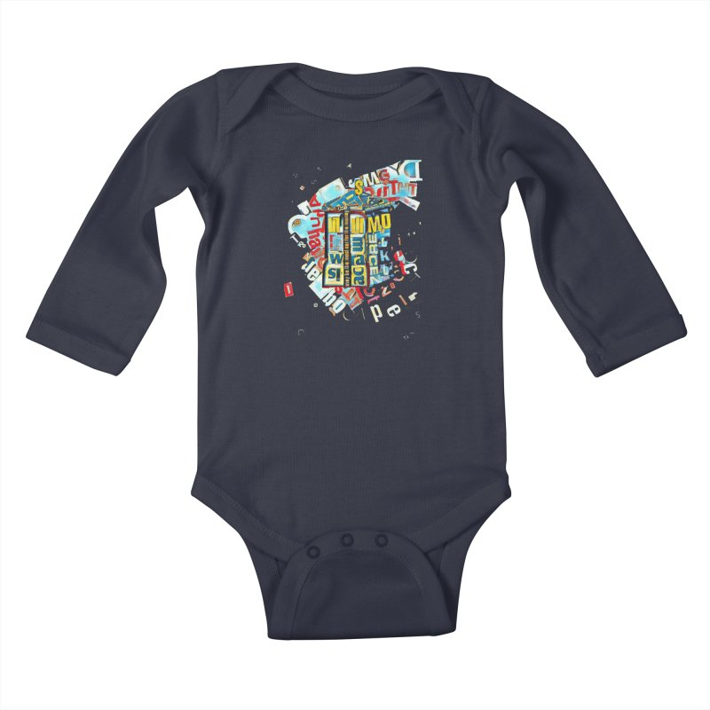 Time & Relative Dimension in Space Kids Baby Longsleeve Bodysuit by dasiavou's Artist Shop
