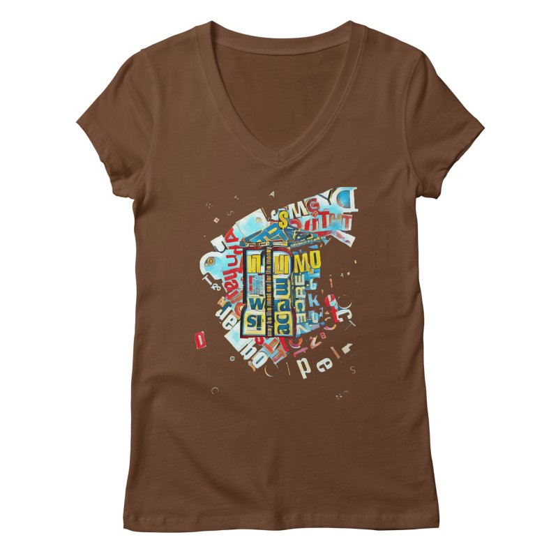 Time & Relative Dimension in Space Women's V-Neck by dasiavou's Artist Shop